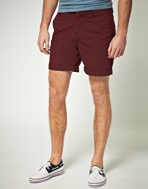 Aumentar Pantalones cortos chinos de largo medio de ASOS
