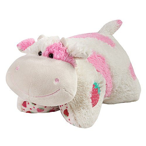 Pillow Pets Sweet Scented Pets Strawberry Milkshake Co Animal Pillows Cute Stuffed Animals Animal Plush Toys
