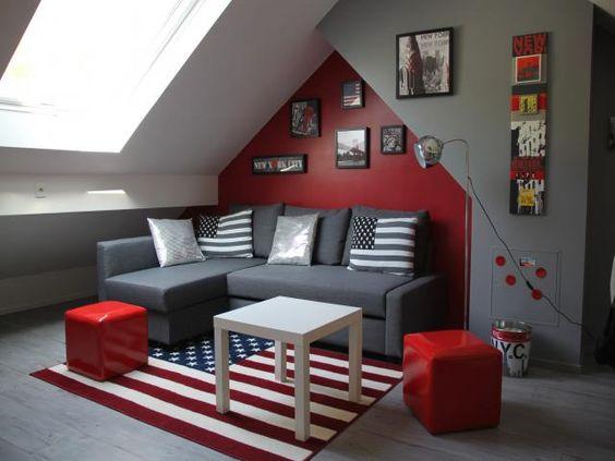 belle deco chambre ado garcon design | Deco, Rouge and Bedrooms