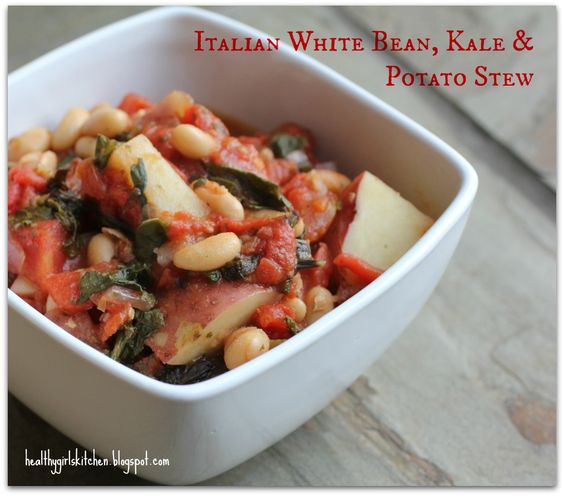 Italian White Bean, Kale and Potato Stew--easy, vegan, no-oil, but ...