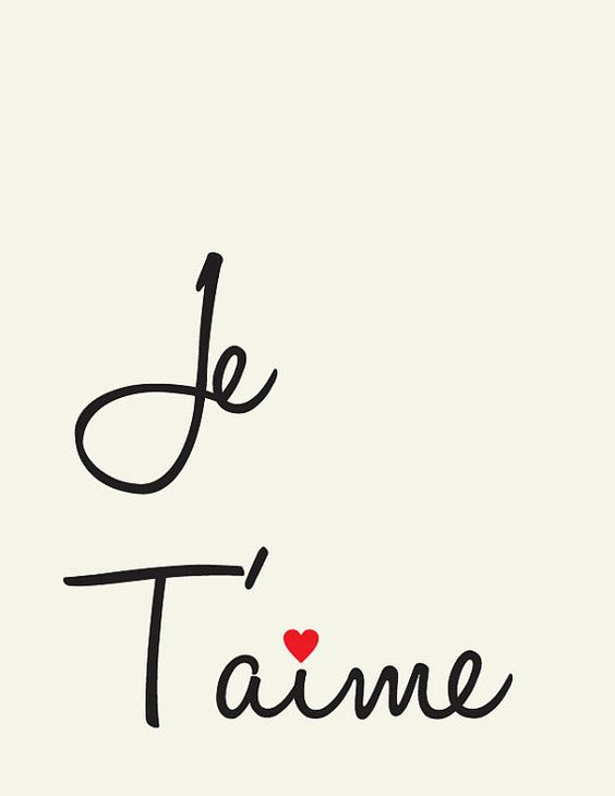 Je Taime All things French ! Pinterest Te amo, TES et Amor