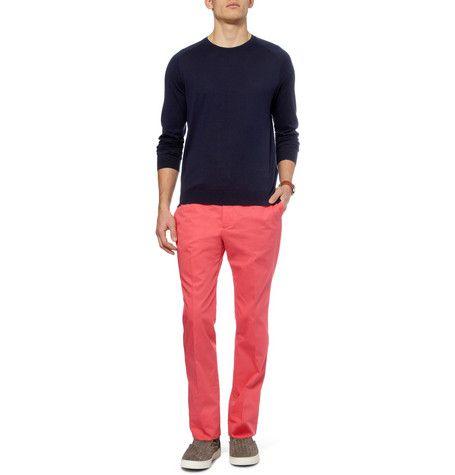 pantalones de colores para hombres: Hombres Arriesgados, Cotton Trousers, Color, Colors, Mens Clothing, Men'S Clothing, Men Fashion, Fabulous Clothes
