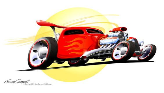 Hot Wheels Bobber Truck By Garycampesi Hot Rods Race Cars