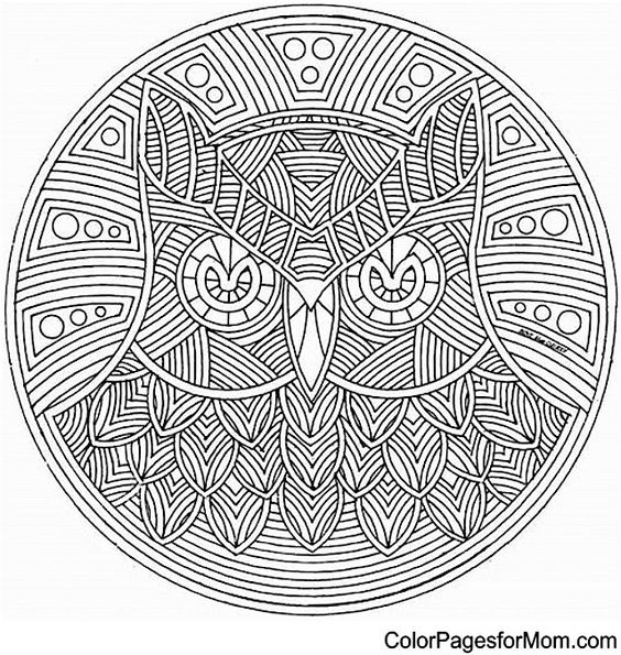 Owl Mandala Coloring Page | Color Pages for Mom. #coloring #books #pages #owls #mandalas