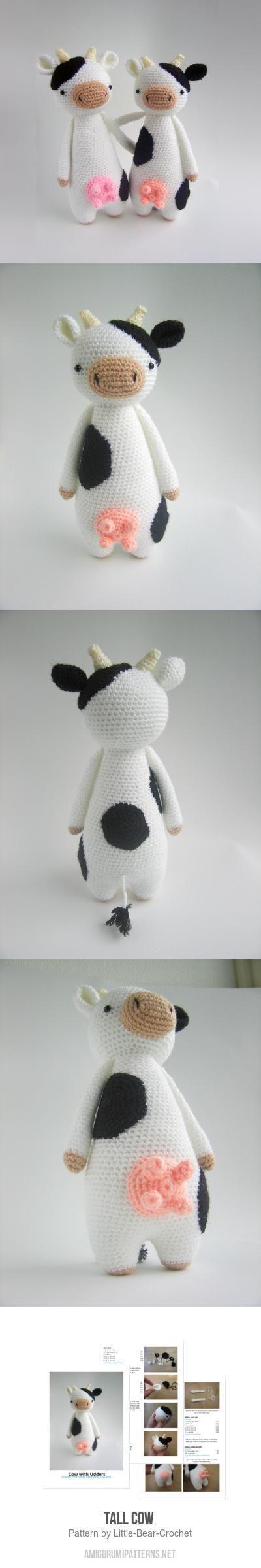 Amigurumi Pattern Little Cows : over 1000 ideer om Virkmonster p? Pinterest Virkning ...
