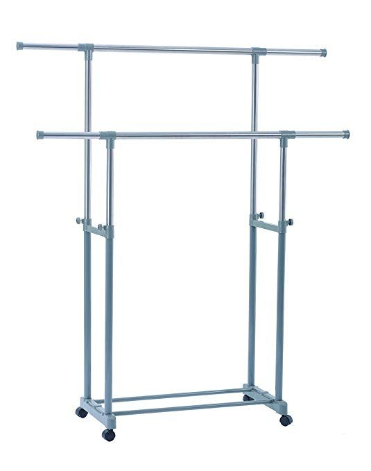 Yubelles Garment Drying Rack Ajustable Flexible Clothing Hanging