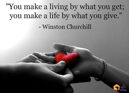 """You make a living by what you get; you make a life by what you give."" – Winston Churchill #Quotes"