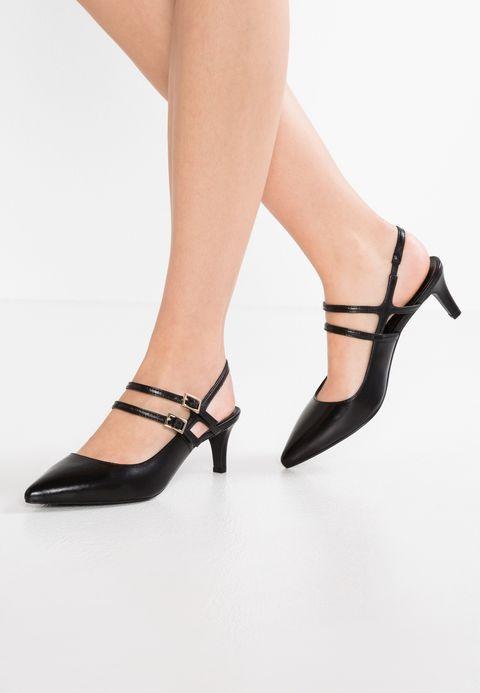 Bruno Premi Czolenka Nero Pasek Skora Obuwie Damskie Bxvyeh5l Heels Kitten Heels Shoes