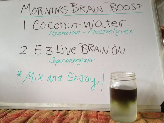 Morning brain boost.
