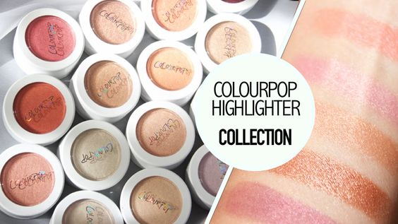 Colourpop highlighters and blush