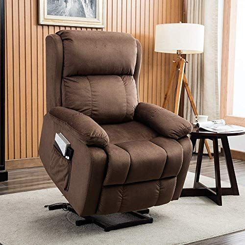 Amazing Offer On Bonzy Home Power Lift Recliner Chair Elderly Electric Recliner Chair Upgrade Motor Soft Cloth Support Elderly Patient Convenient Adjustabl Brown Living Room Recliner Chair Brown Furniture Living Room