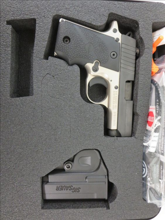 Used Sig Sauer P238 .380 w/ holster and case $550 - http://www.gungrove.com/used-sig-sauer-p238-380-w-holster-and-case-550/