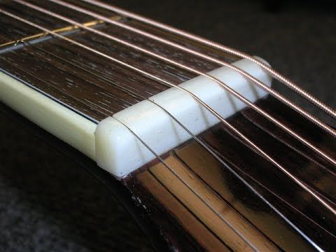 Luthier S Tips Tricks 3 Proper Nut Slotting Height Luthier Guitar Kits Video Editor