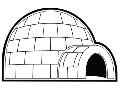 Snowhouse Or Igloo Coloring Page Tot School Printables