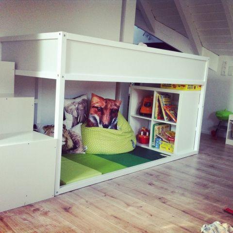Tier-Safari Hochbett fürs Kinderzimmer