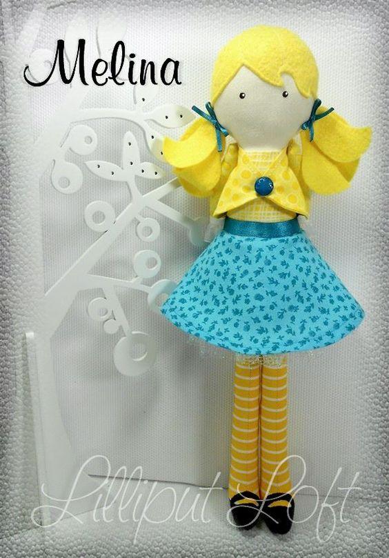Melina, from my 'inspired by Strawberry Shortcake' range of Pretty Poppet Dolls. © Lilliput Loft 2012