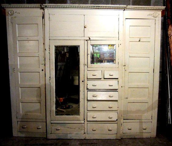 ~ Nice Antique Built In Armoire ~ Unique Closet Front ~ Architectural Salvage ~