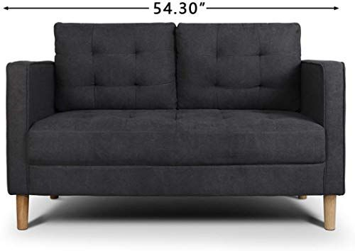 New Aodailihb Modern Soft Cloth Tufted Cushion Loveseat Sofa Small