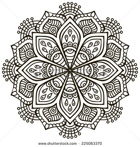 Mandala Round Ornament Pattern Vintage Decorative Elements Hand