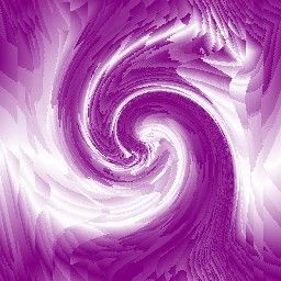 Purple and White Waves and Swirls