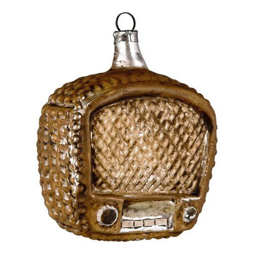"Vintage mouthblown Christmas Glass ornament ""Radio"" by ..."