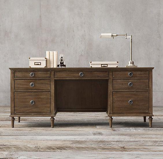 office desk restoration hardware maison 76 quot desk