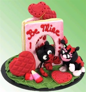 Valentine cookie card with love bugs! CUTENESS