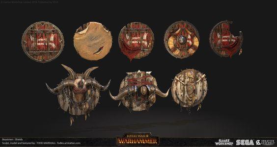 ArtStation - Beastmen Shields, Todd Marshall