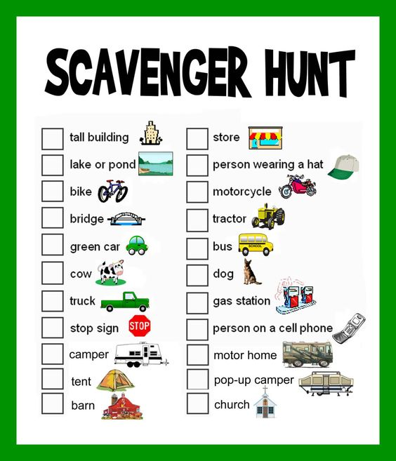 Scavenger Hunt for Kids - Road Trip and Travel Activities