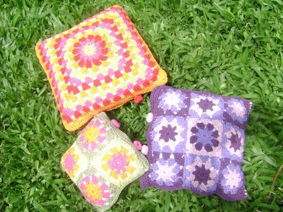 Almohadones tejidos a crochet - fundas: Crochet Fundas, Almohadones Tejidos, Funda Almohadones