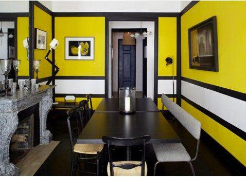 comment associer la couleur jaune en d co d 39 int rieur design tables et appliqu s. Black Bedroom Furniture Sets. Home Design Ideas