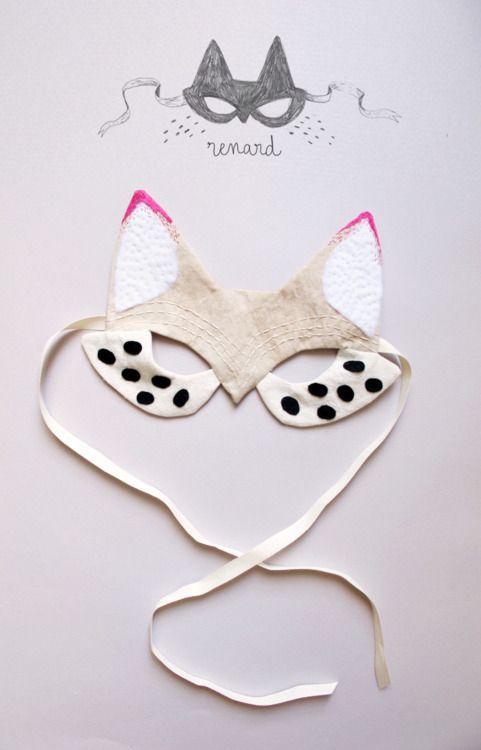 props: Cat Mask, Halloween Costumes, Diy Craft, Felt Mask, Halloween Masks, Fox Mask