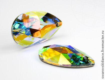 Pear Sew-on 28x17мм Crystal AB Swarovski