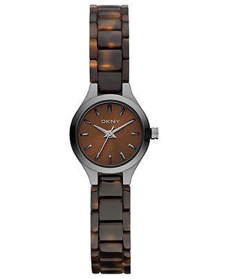DKNY Watch, Women's Brown Plastic Tortoise Bracelet 20mm NY8664 - All Watches - Jewelry & Watches - Macy's