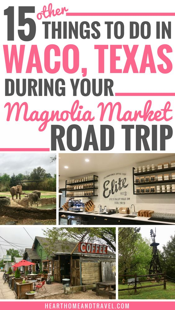 Planning a trip to Waco, Texas soon? Check out this list of 15 other things to do in Waco in addition to visiting Magnolia Market! #Magnolia #MagnoliaMarket #Waco #WacoTexas #ThingsToDo via @hearthometravel