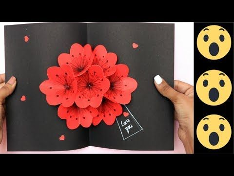Pop Up Flower Card 3d Card Pop Up Card Diy Youtube Flower Cards Pop Up Flower Cards Pop Out Cards