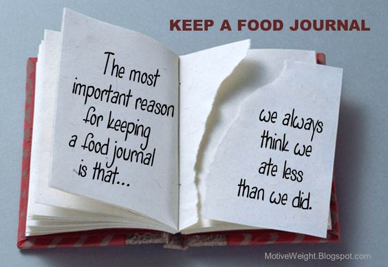 The most important reason for keeping a food journal is that we always think we ate less than we did.