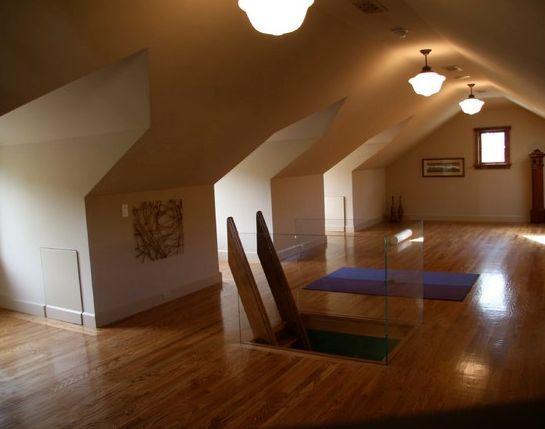 attic gym ideas - Ladder Entrance to Attic Gym Attic ideas