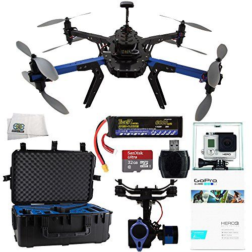RTF X8+ Multicopter 915 MHz + 3DR Travel Case For RTF X8 Drone + Tarot T-2D Brushless Gimbal Kit for 3D Robotics IRIS+, Quad, Y6, and Y8+ + GoPro HERO3: White Edition + SanDisk Ultra 32GB UHS-I/Class 10 Micro SDHC Memory Card (SDSDQUAN-032G-G4A) + Reader + Microfiber Cleaning Cloth - http://www.midronepro.com/producto/rtf-x8-multicopter-915-mhz-3dr-travel-case-for-rtf-x8-drone-tarot-t-2d-brushless-gimbal-kit-for-3d-robotics-iris-quad-y6-and-y8-gopro-hero3-white-edition-sandis
