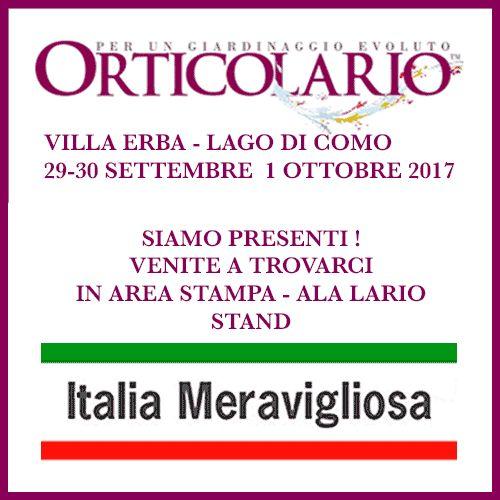 Italia Meravigliosa partecipa a ORTICOLARIO 2017
