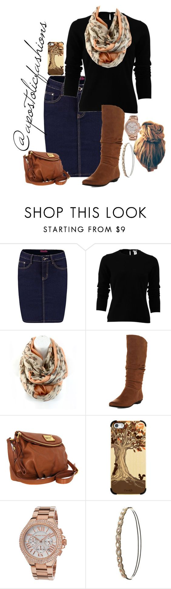 """""""Apostolic Fashions #1475"""" by apostolicfashions on Polyvore featuring Boohoo, Oscar de la Renta, Dorothy Perkins, Marc by Marc Jacobs, Casetify, Michael Kors, Charlotte Russe, modestlykay and modestlywhit"""