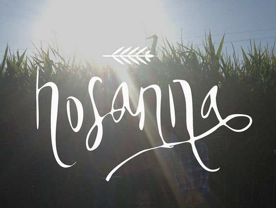 hosanna hand lettering pinterest fonts words and