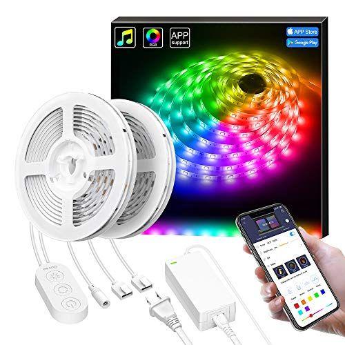Smart Led Lights Strip With Music Sync Govee App Control 32 8ft Led Strip Light Waterproof Dream Led Strip Lighting Led Color Changing Lights Strip Lighting