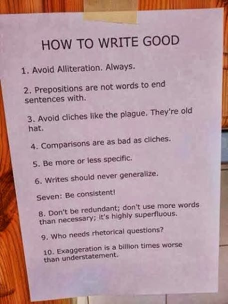 How to write good.