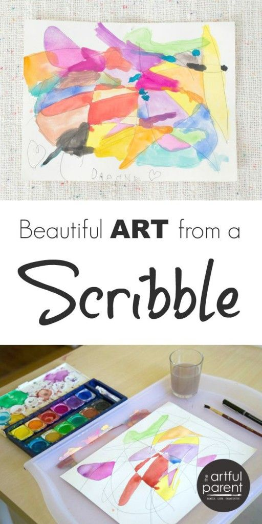 Scribble Drawing Process : Scribble drawings with watercolors art camp easels and