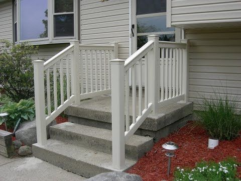 Vinyls vinyl railing and lowes on pinterest - Vinyl deck railing lowes ...