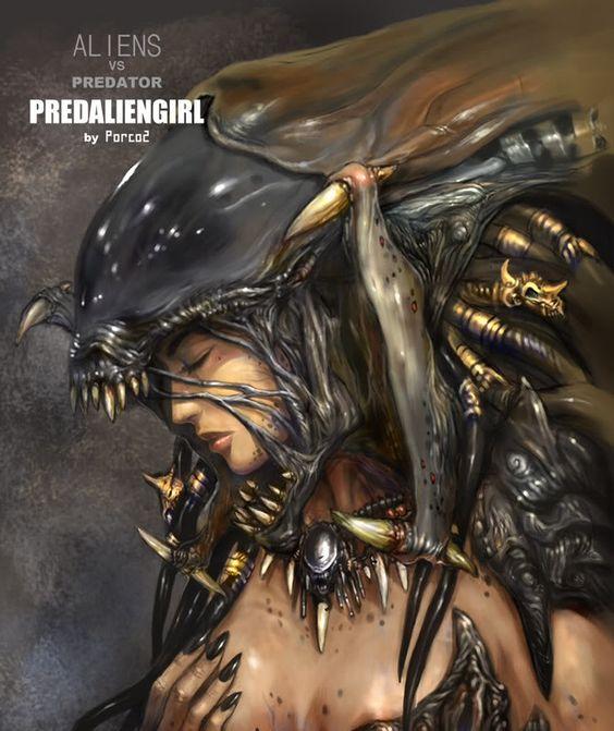 Xenomorph Human Hybrid Alien human hybrid female alien xenomorph