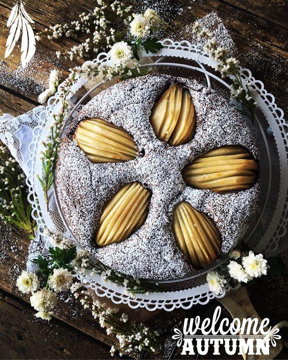 Kessy's Pink Sugar: Schokowolkenkuchen mit Birnen