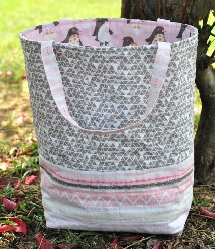 how to make a tote bag with flat bottom