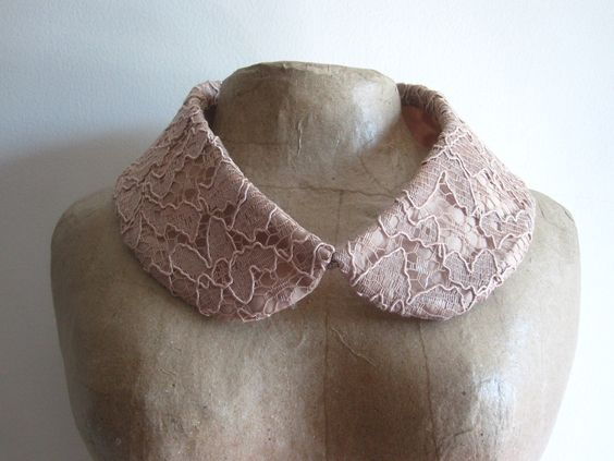 Detachable Peter Pan Collar - Nude Lace. $14.00, via Etsy.